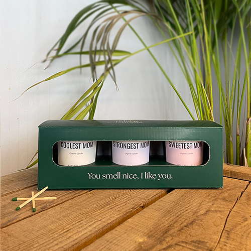 triobox for 3 personalised candles